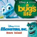 A Bug's life and Monster's Inc Packshot
